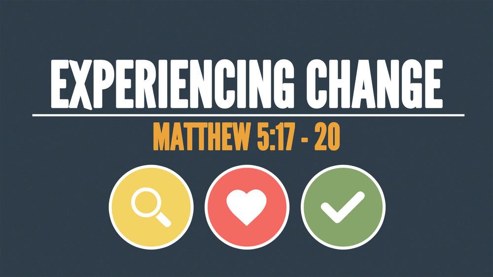Matthew 5:17 - 20