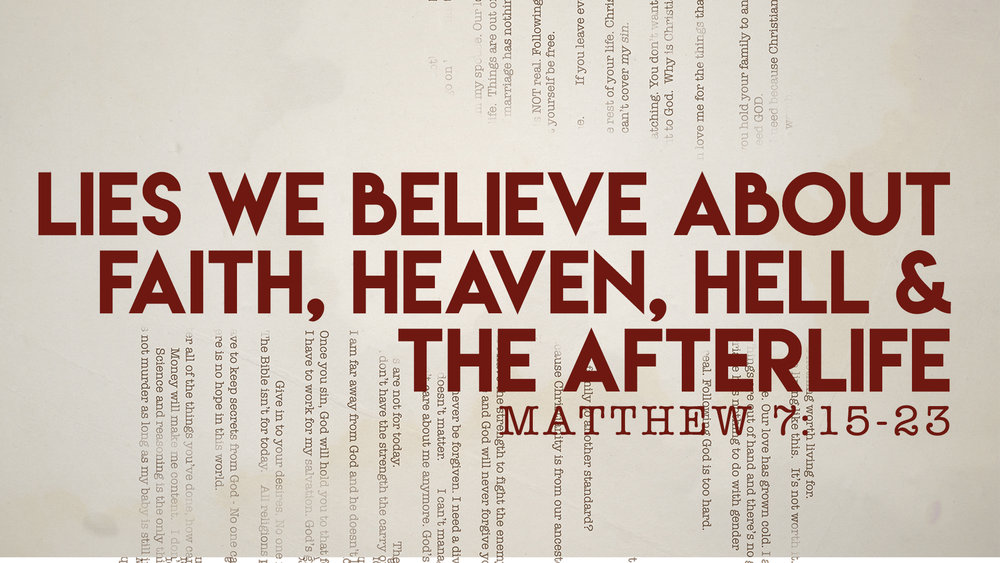 Matthew 7:15 - -23