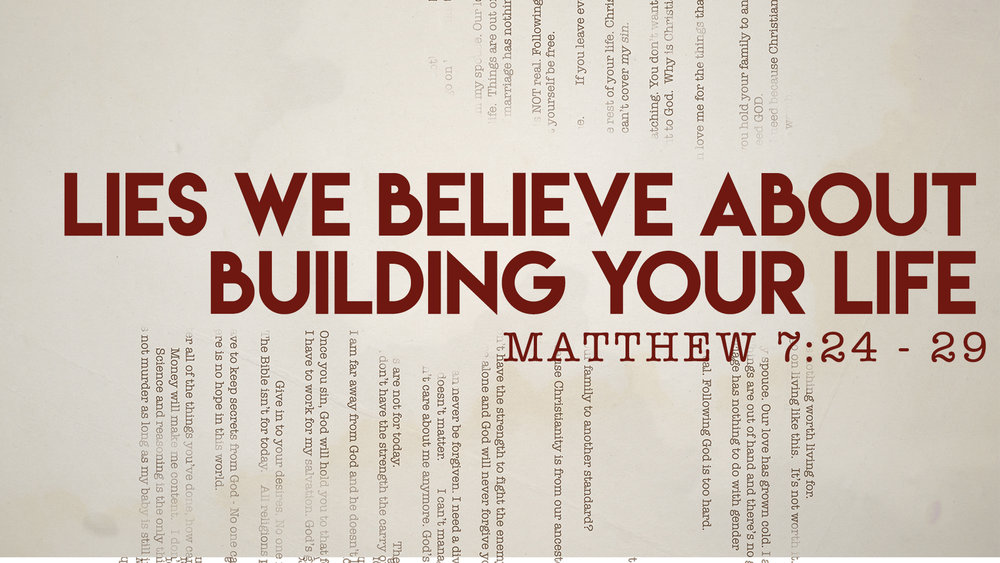 Matthew 7:24 - 29