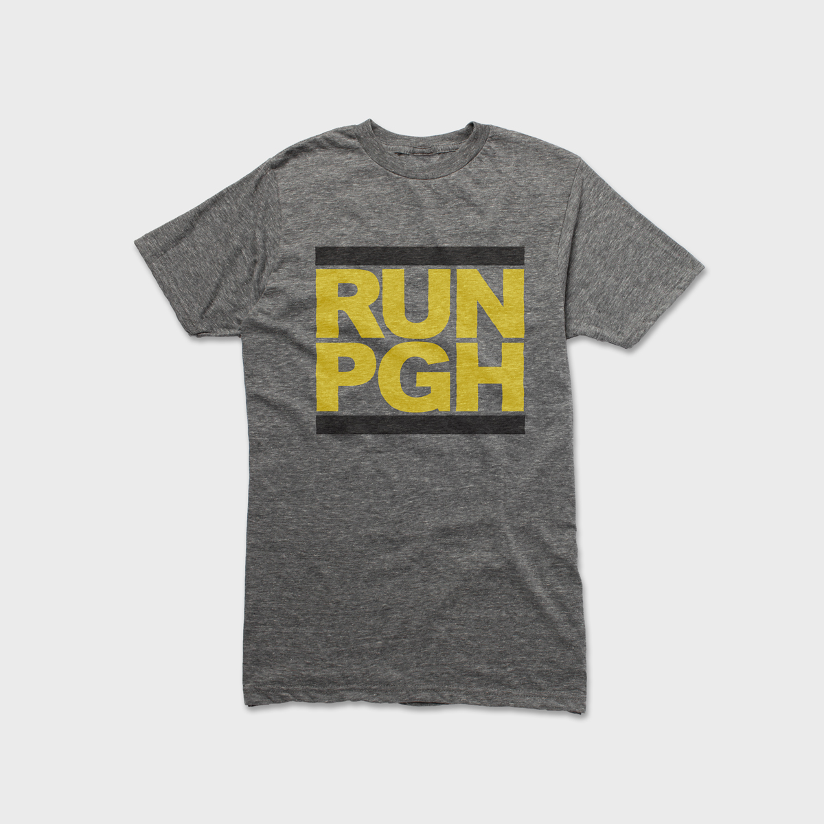fea562b3b86 RUN PGH - Gray Tee — Fresh Factory Pittsburgh Vintage T-shirts