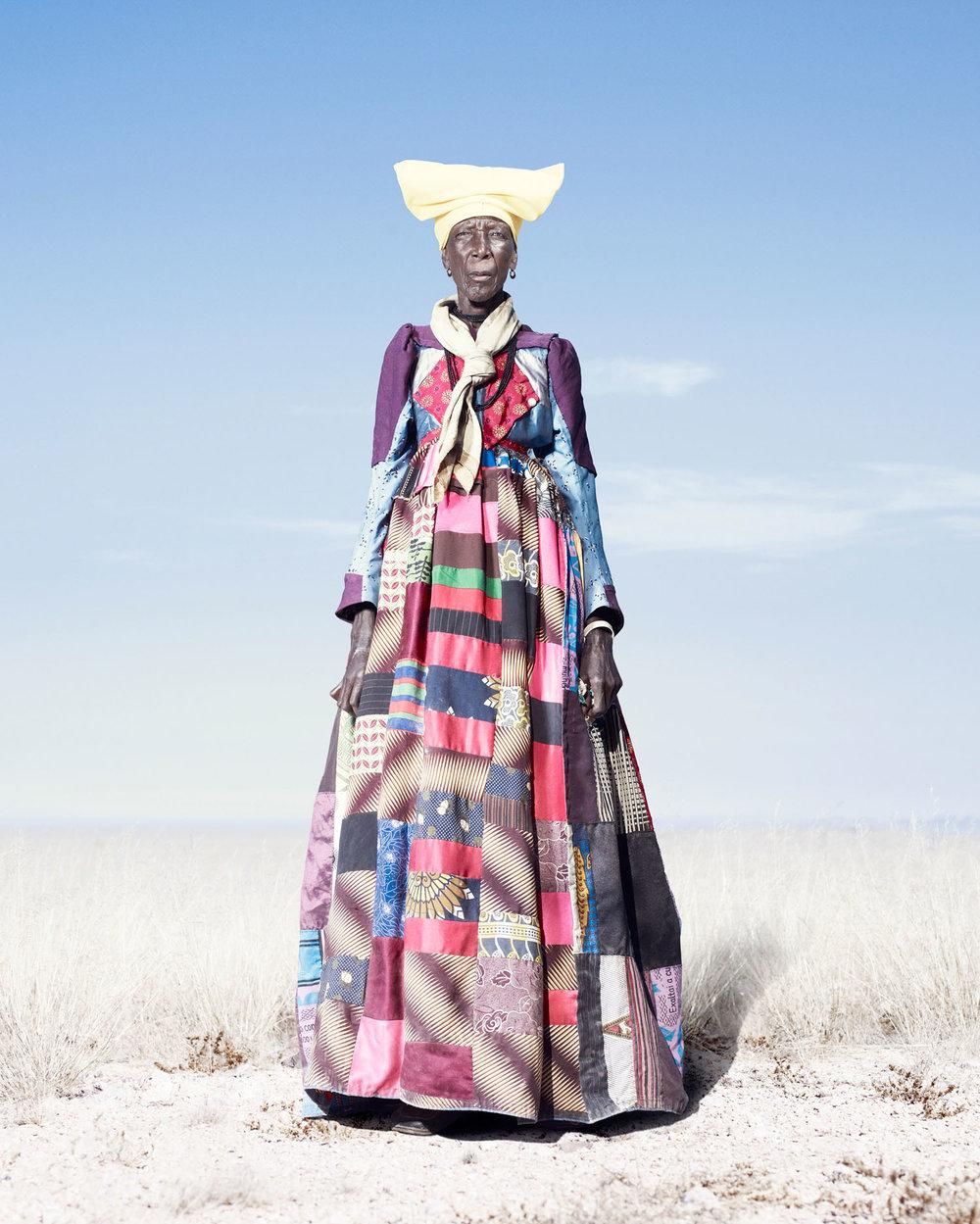 Herero Woman In Patchwork Dress (2012)