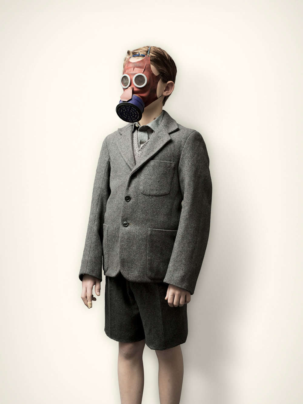 Evacuee with Micky Mouse Gas Mask (2008)