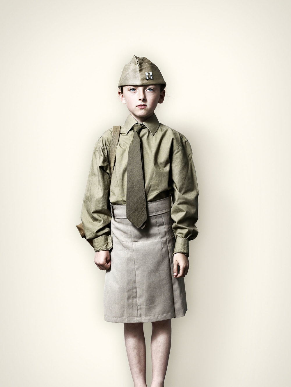 Girl in US Military Uniform (2008)