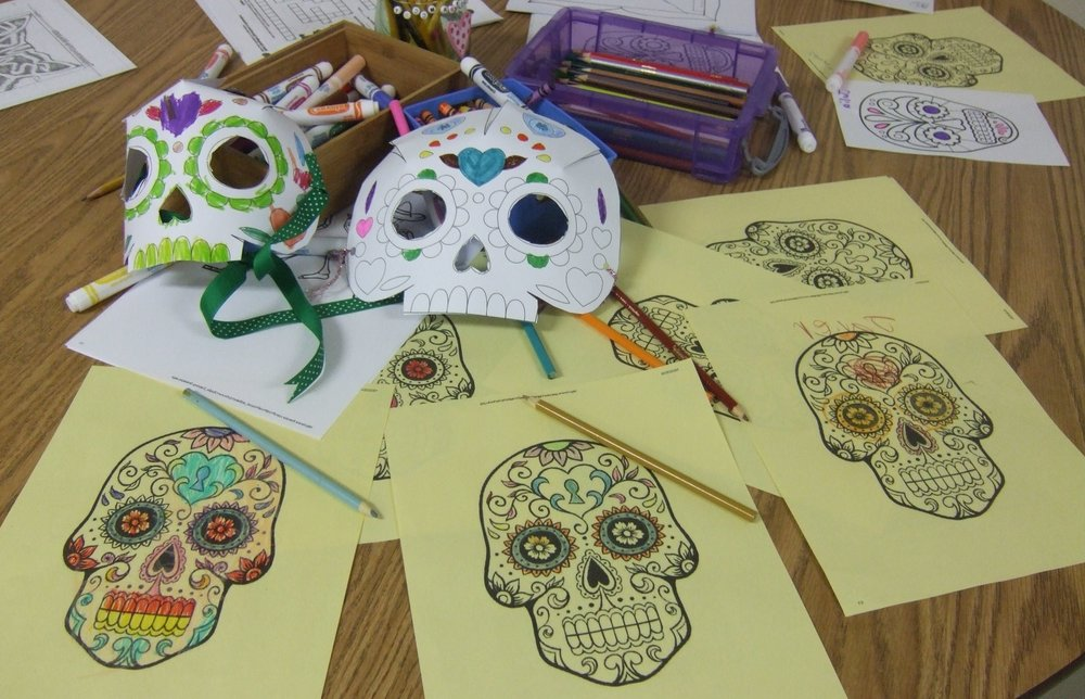 Spend an afternoon creating in the style of the Mexican holiday of Día de los muertos, Day of the Dead! -