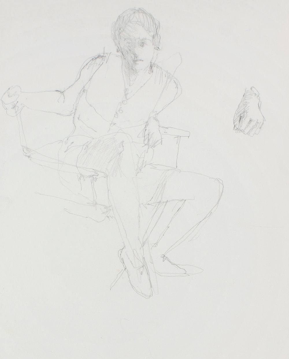 1989_Study_for_Seated_Girl_(Sophie_with_Detail_of_Hand)_pencil_on_paper_15x11in_WPF622.jpg