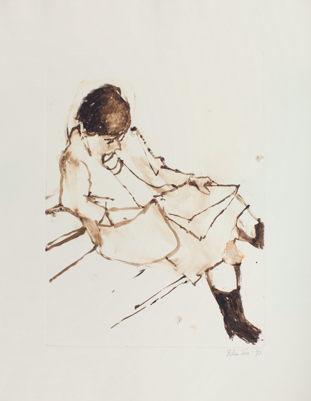 1990_Sandra_Looking_in_Handbag_monotype_on_paper_117x15in_image_12x9in_WPF141.jpg