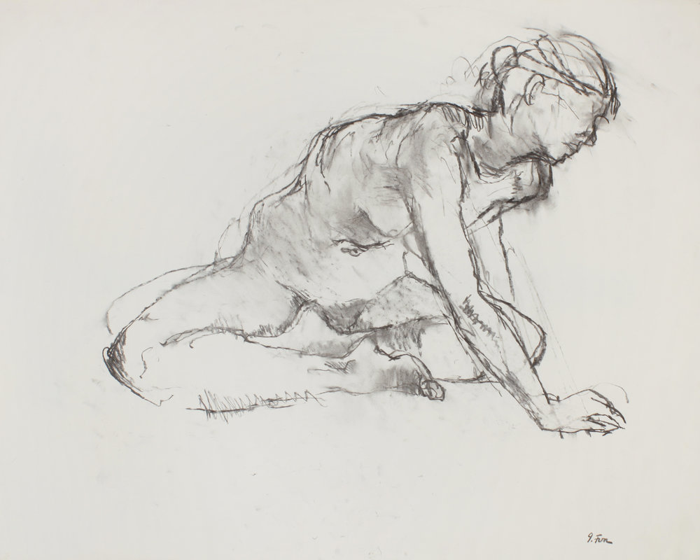1990s_Seated_Nude_with_Cross_Legs_and_Extended_Arm_charcoal_on_paper_23x30in_WPF477.jpg