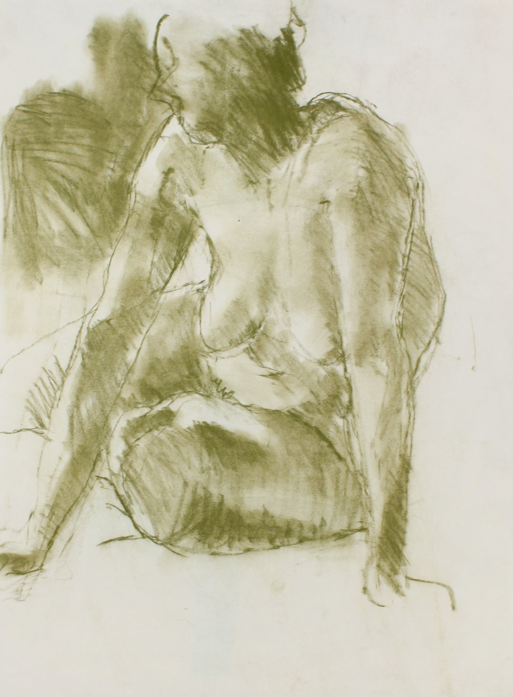 1990s_Seated_Nude_with_Splayed_Arms_green_pastel_on_cream_paper_26x19in_WPF464.jpg