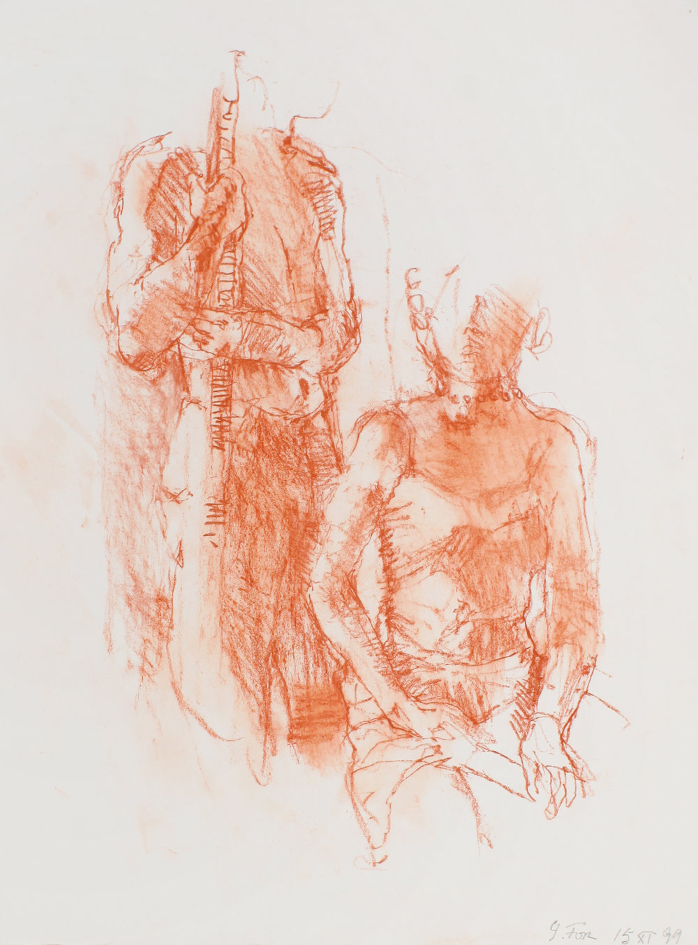 2000_Standing_Male_and_Seated_Female_Holding_Object_red_conté_on_paper_11x15in_WPF541.jpg