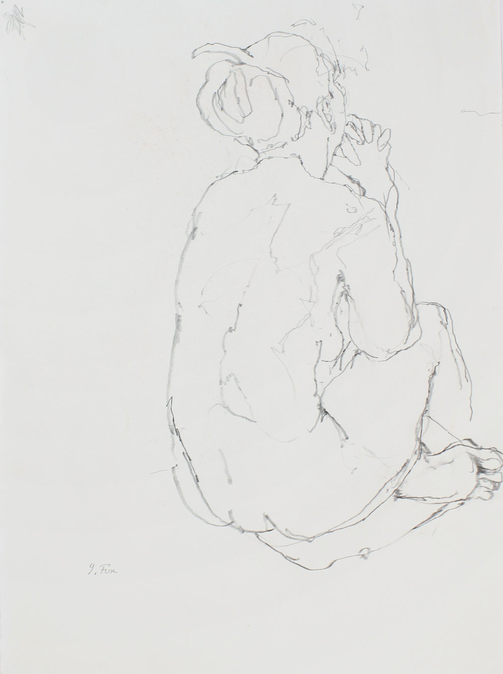 2000s_Seated_Nude_from_Back_with_Clasped_Hands_pencil_on_paper_15x11in_WPF500.jpg