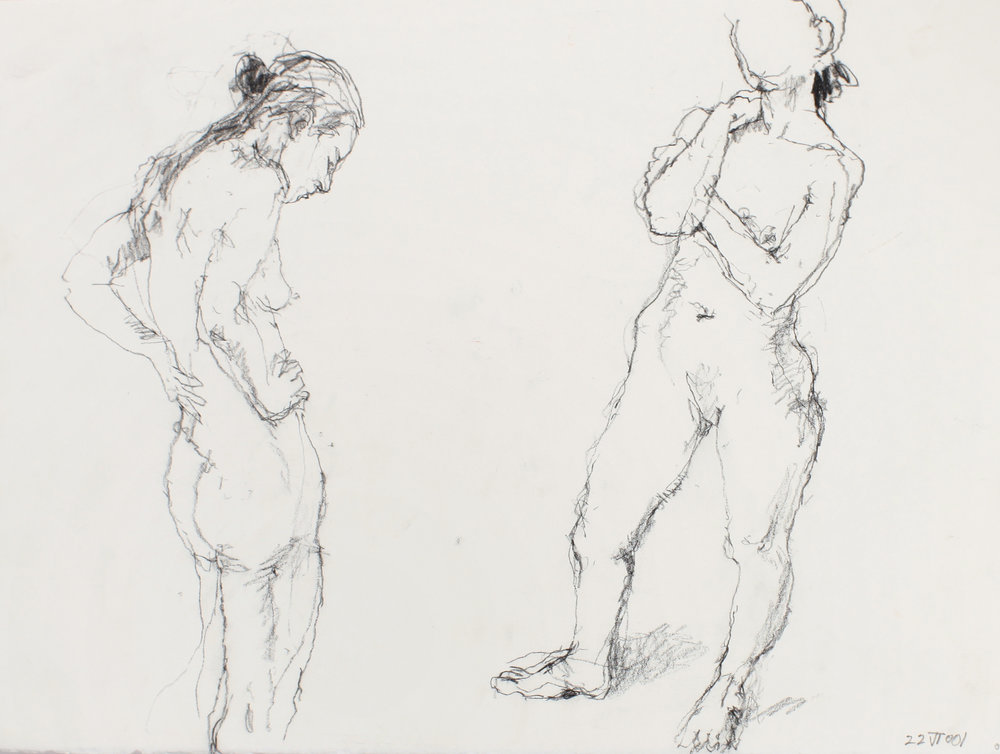 2001_Two_Standing_Nudes_Facing_Each_Other_conté_on_paper_11x15in_WPF507.jpg