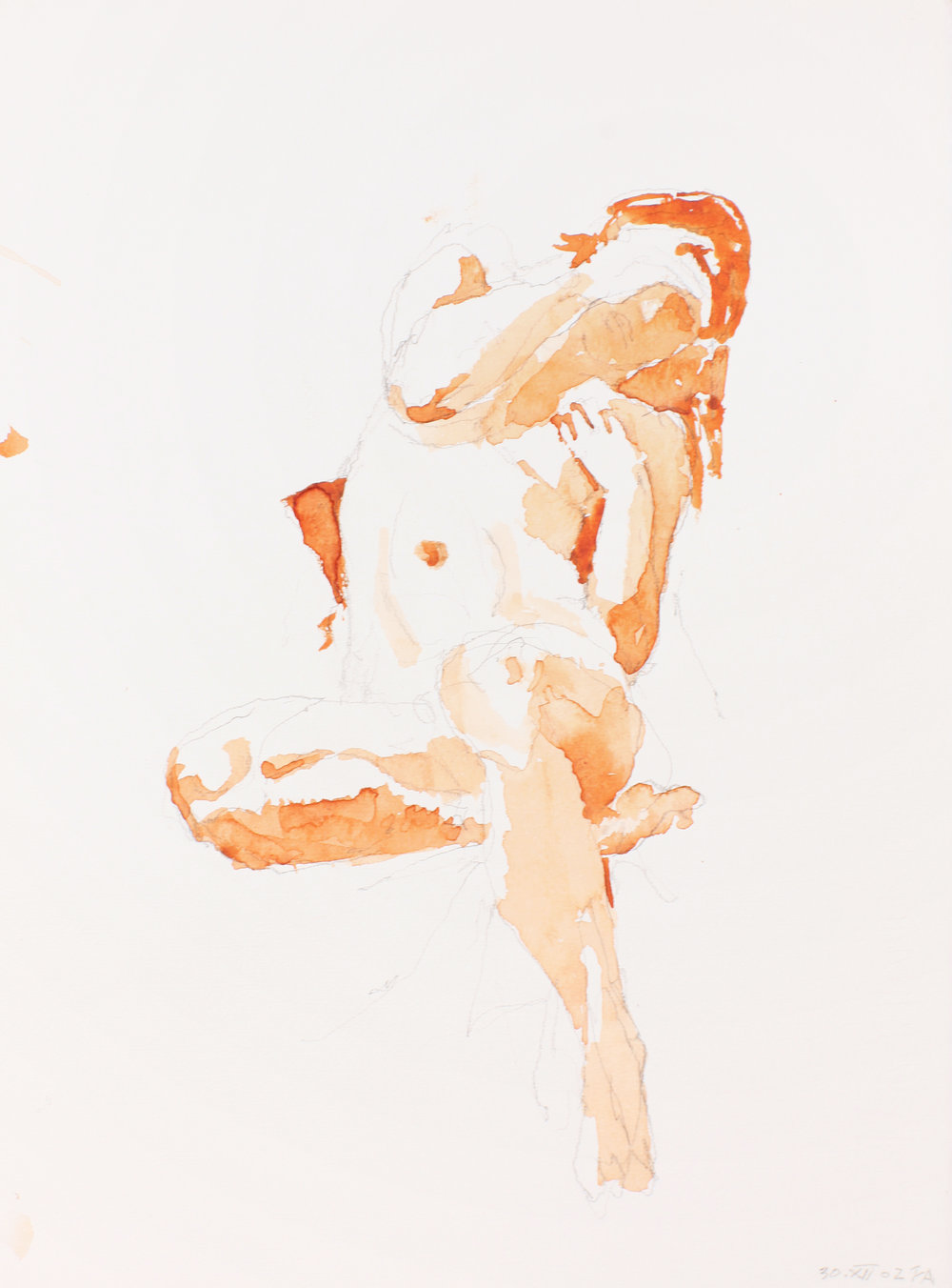2002_Seated_Nude_with_Crossed_Leg_and_arched_Neck_watercolour_and_red_conté_on_paper_15x11in_WPF196.jpg