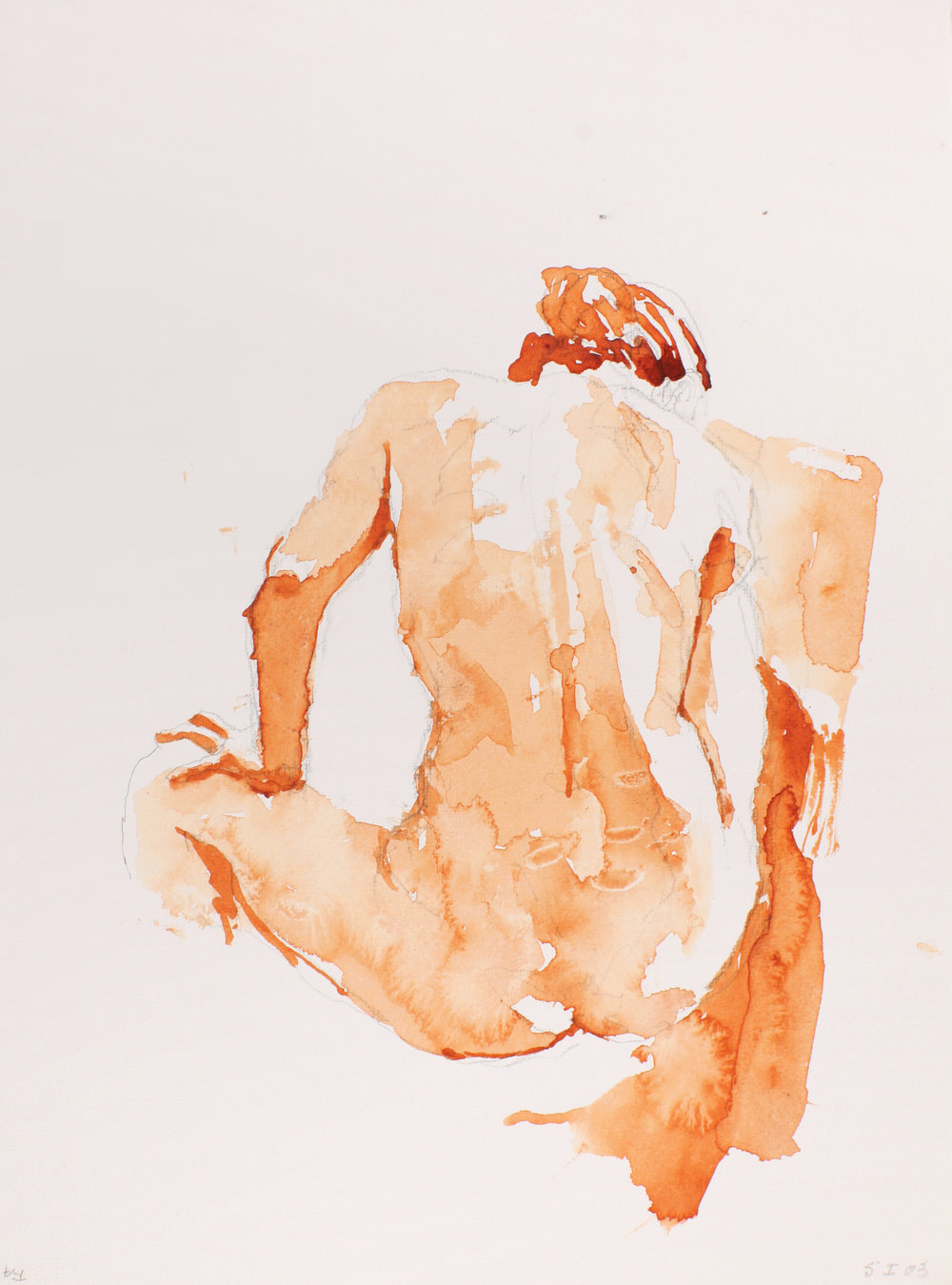 2003_Nude_with_Hand_on_Knee_from_Back_watercolour_on_paper_15x11in_WPF041.jpg