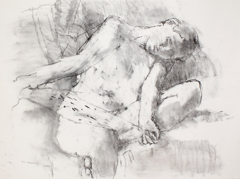 2003_Seated_Nude_with_Turned_Head_Holding_Scarf_charcoal_on_paper_22x30in_WPF453.jpg
