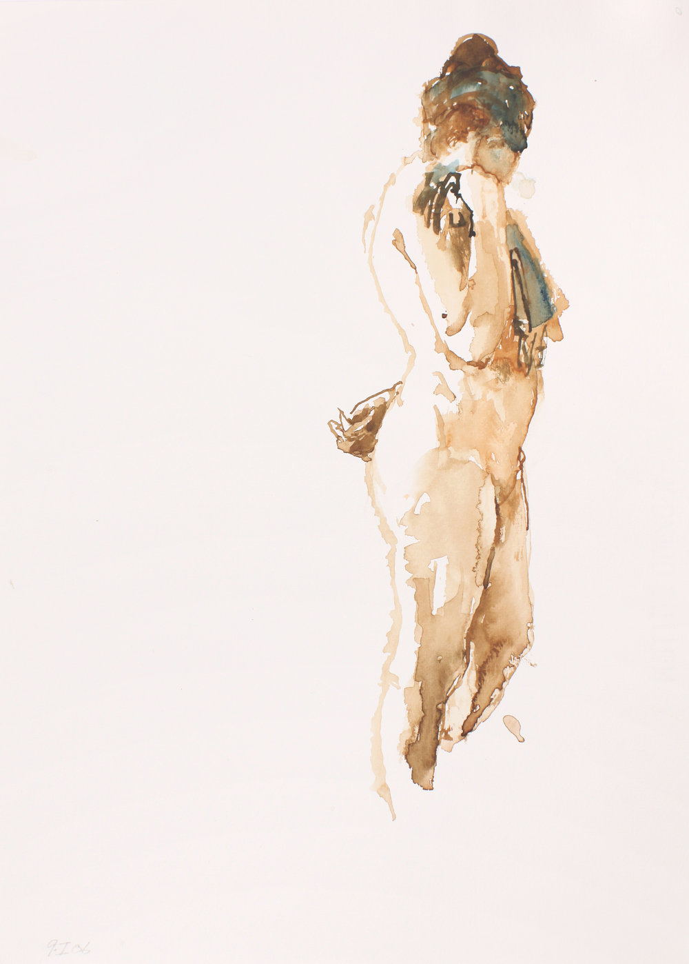 2006_Standing_Nude_Holding_Striped_Scarf_watercolour_and_pencil_on_paper_15x11in_WPF231.jpg