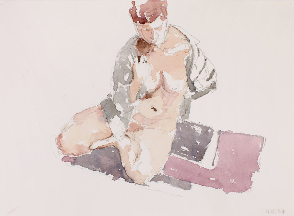 2007_Nude_Seated_on_with_Open_Blue_Shirt_watercolour_and_pencil_on_paper_11x15in_WPF506.jpg