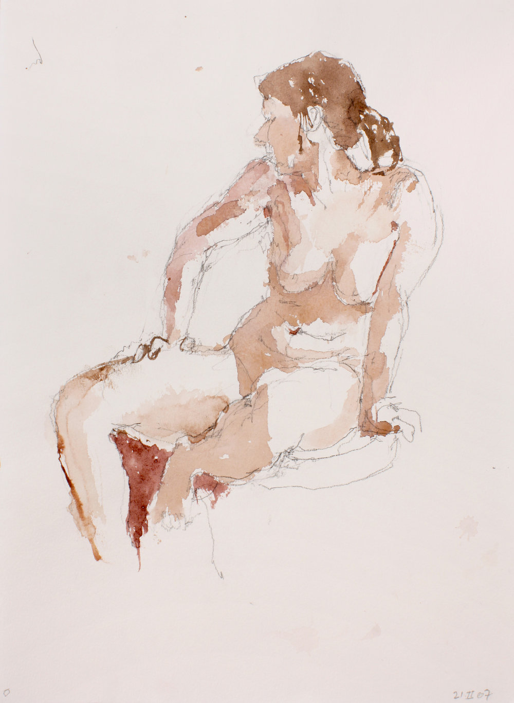 2007_Seated_Nude_with_Bent_Arm_on_Thigh_watercolour_and_pencil_on_paper_15x11in_WPF239.jpg
