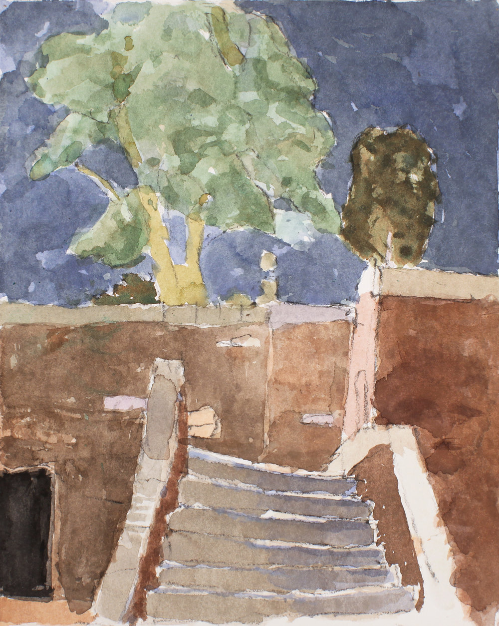 1990s_Bridge_Near_the_Servi_watercolour_and_pencil_on_paper_14x11in_WPF315.jpg