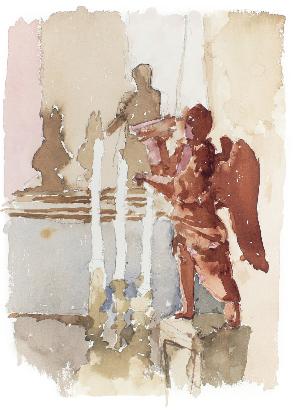 1994_Angel_in_San_Nicolo_Mendicoli_Venice_watercolour_and_pencil_on_paper_14x10in_WPF339.jpg