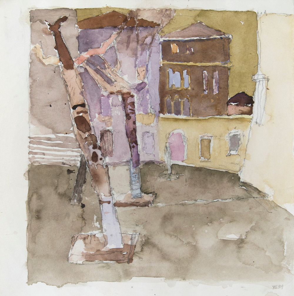 1994_Campo_dei_Gesuiti_and_Bridge_watercolour_and_pencil_on_paper_15x15in_WPF345.jpg