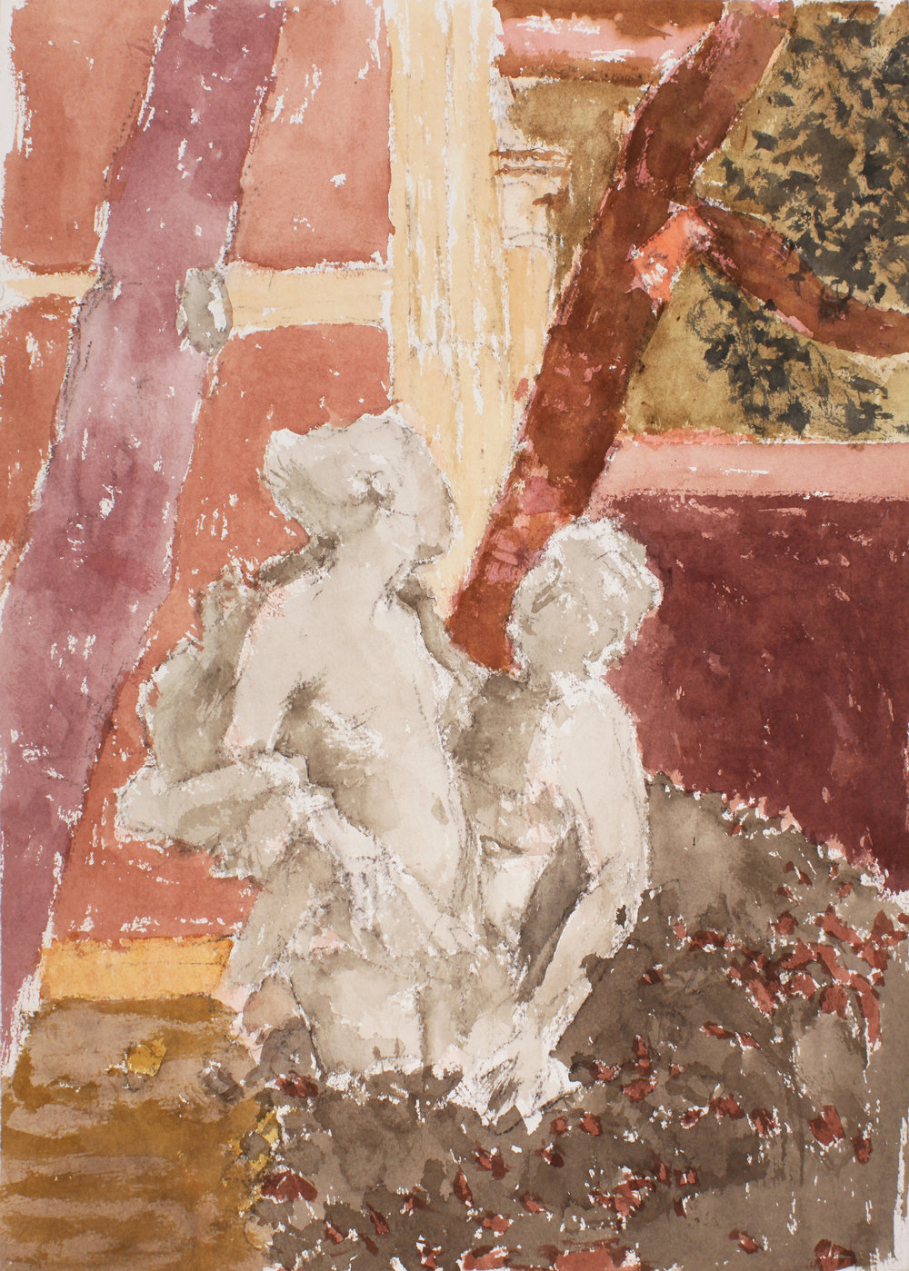 1997_Sculptures_in_Garden_Venice_watercolour_and_pencil_on_paper_21x15in_WPF373.jpg