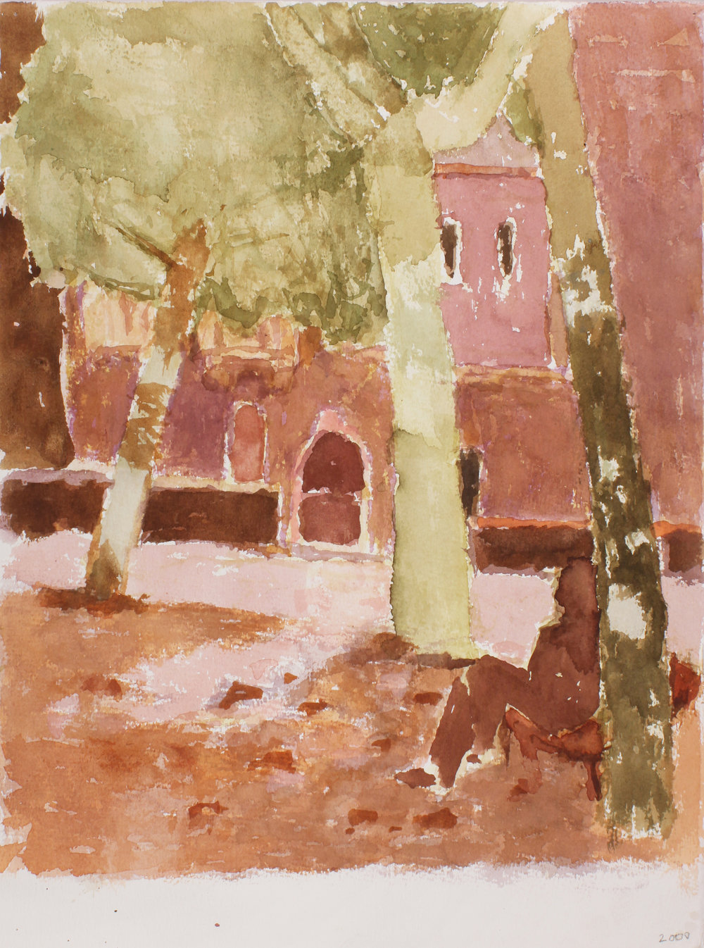 2000_Buildings_and_Garden_Cannaregio_Venice_watercolour_on_paper_15x11in_WPF333.jpg