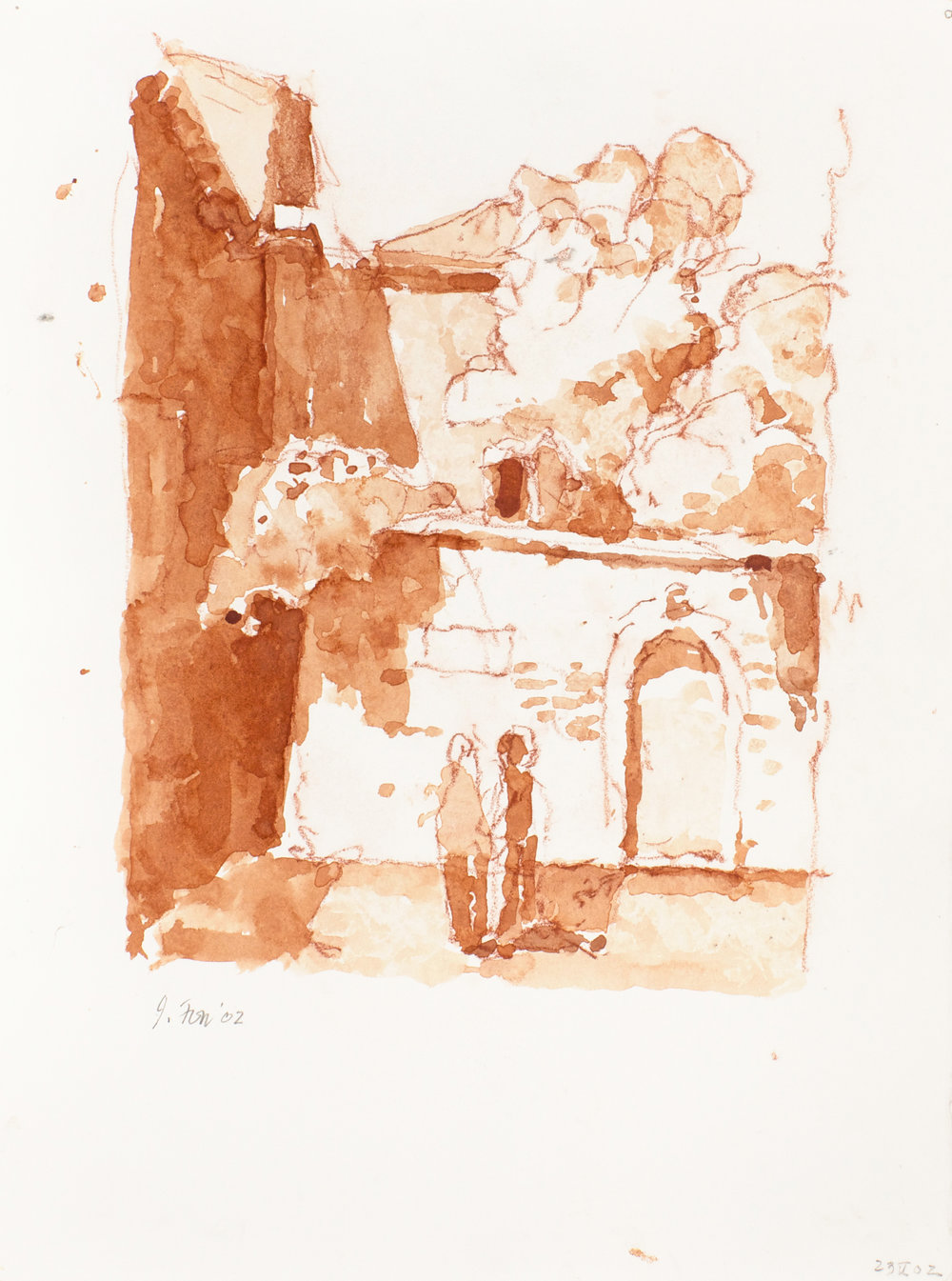 2002_Campiello_della_Madonna_watercolour_and_red_conte_on_paper_15x11in_38x28cm_WPF300.jpg