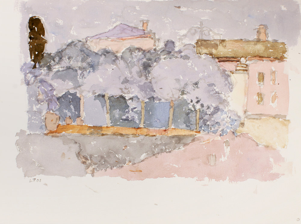 2008_Row_of_Trees_Venice_watercolour_on_paper_11x15in_WPF421.jpg