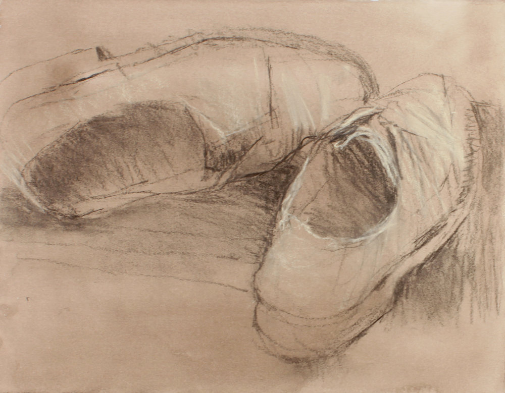 1990s_Pale_Suede_Shoes_pastel_on_painted_paper_10x13in_WPF090.jpg