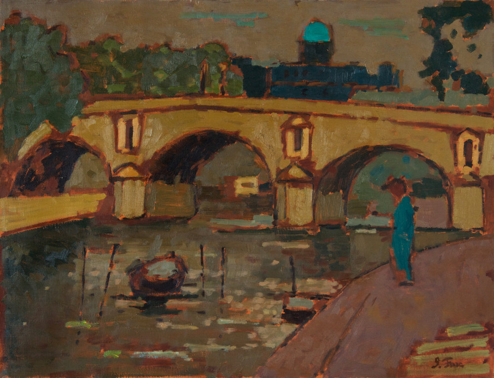 1956_Paris_Bridge_with_Figure_oil_on_linen_20x26in_PF300.jpg