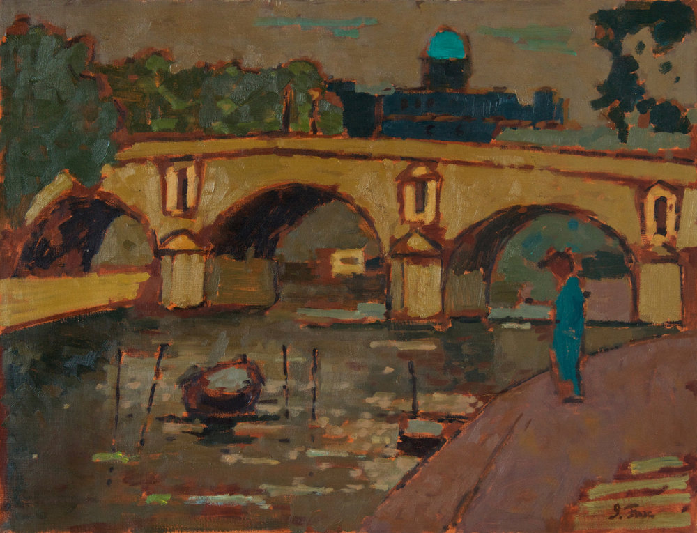 Paris Bridge with Figure