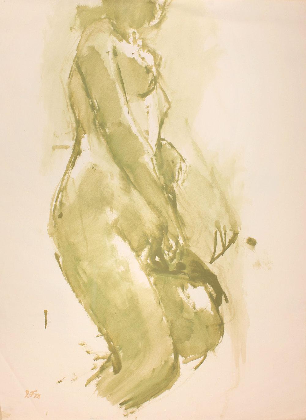 Standing Green Nude