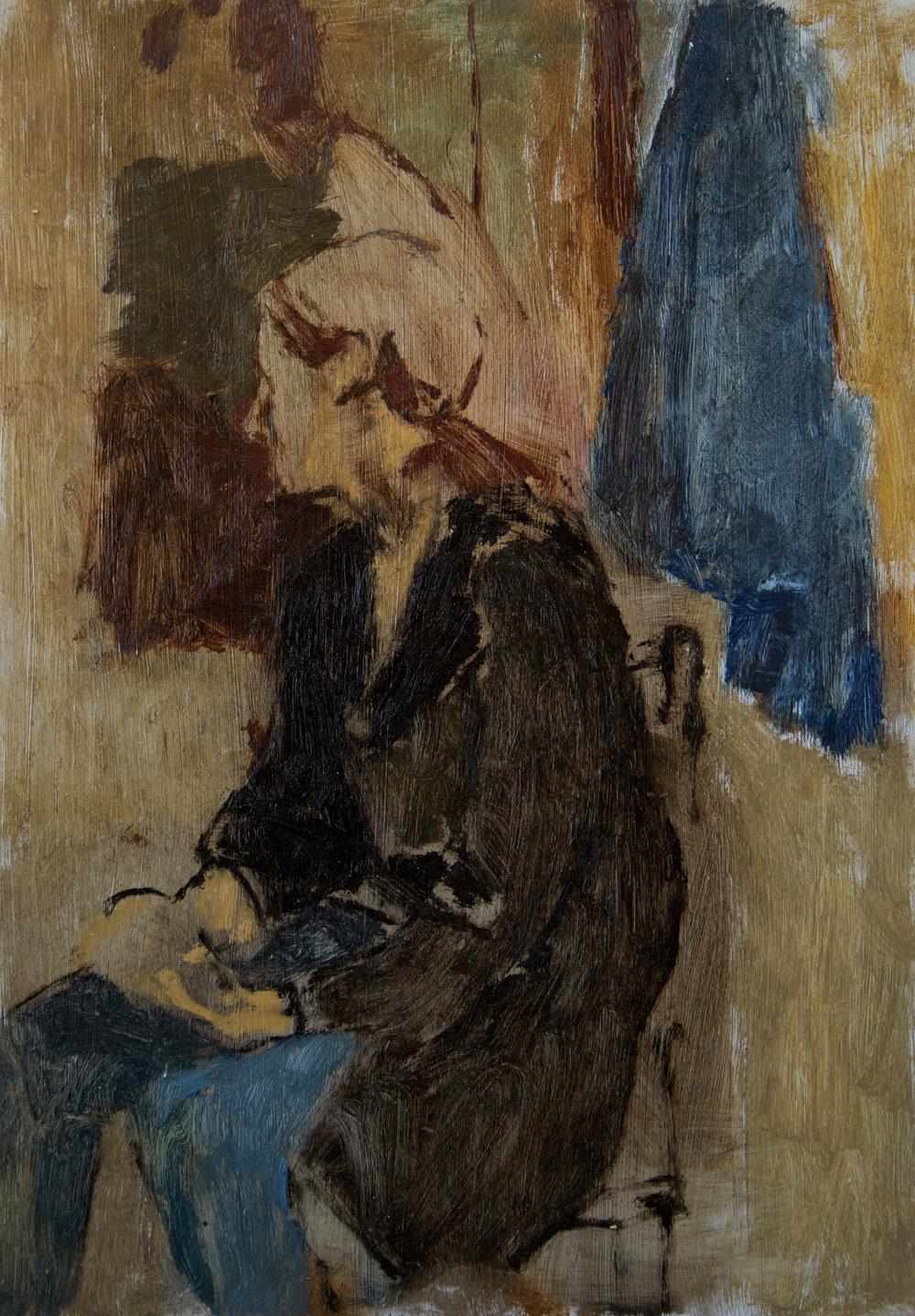 Figure in Black Coat