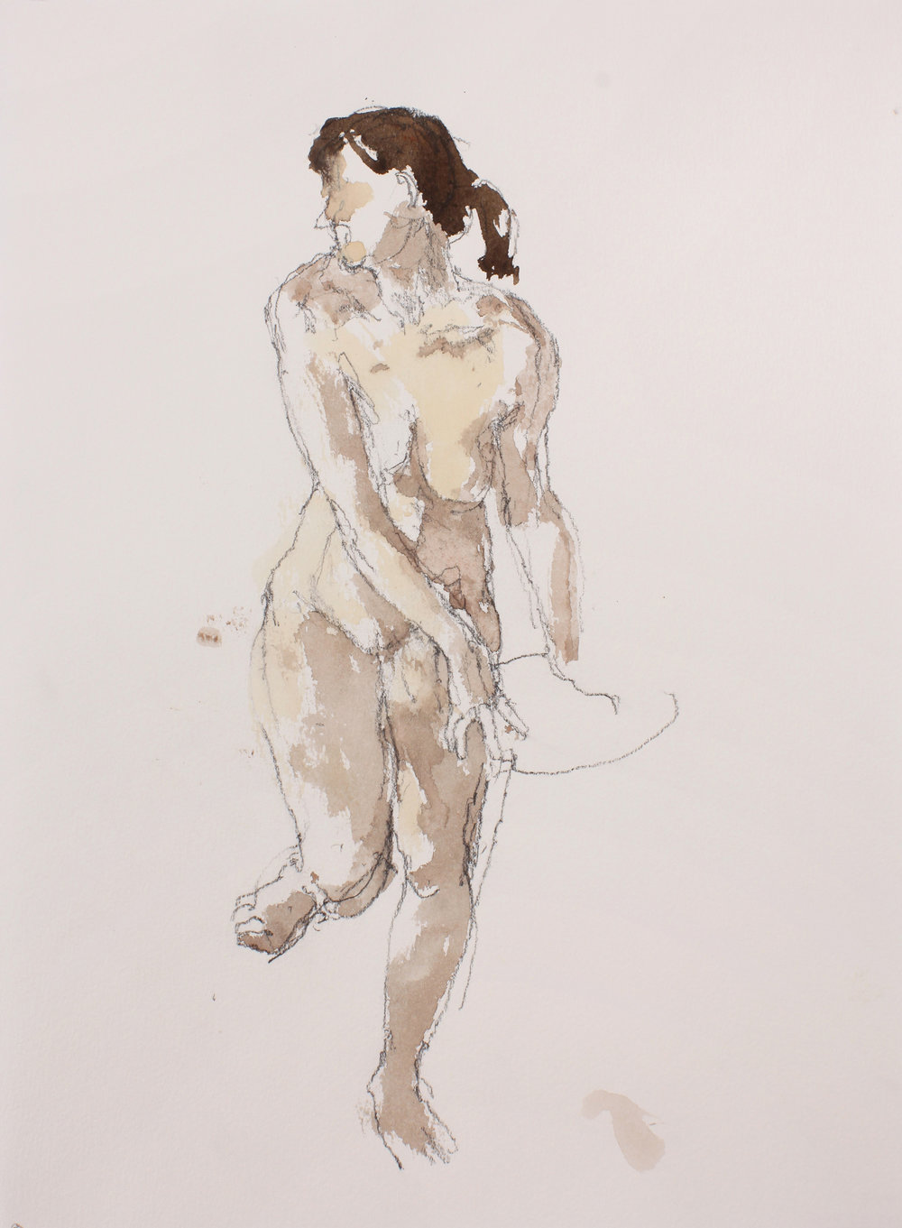 Standing Nude with Raised Left Leg