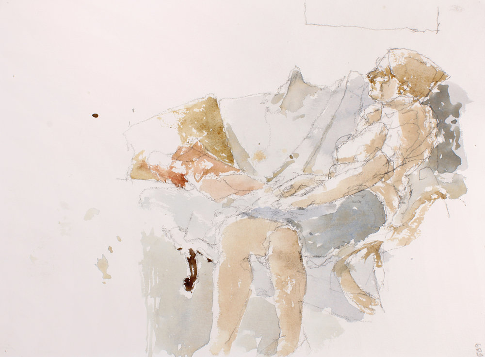 Woman Resting with Pillows