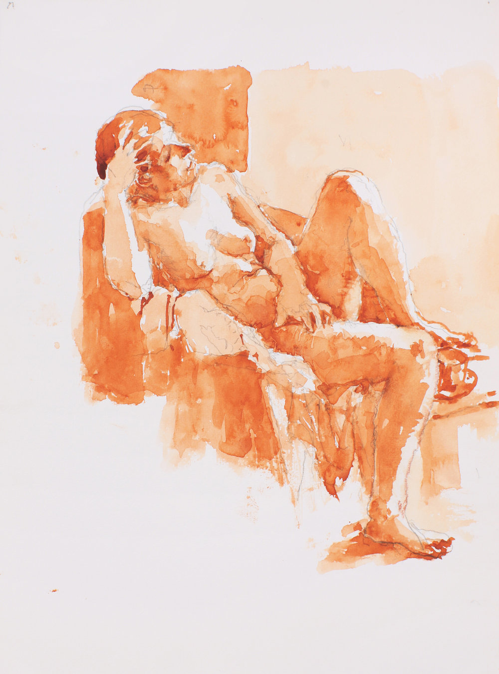 Seated Nude in Contraposto