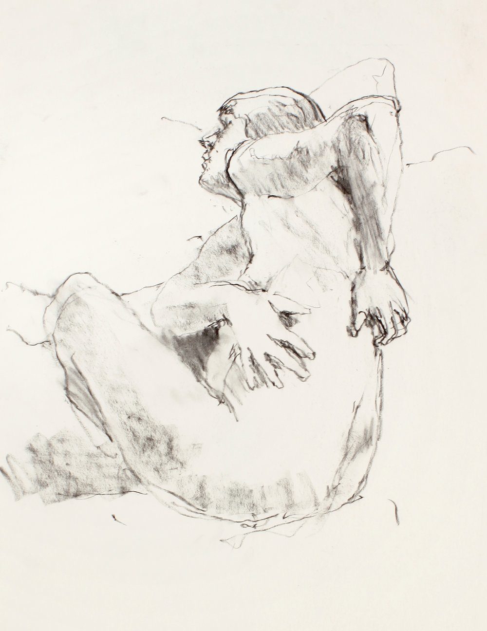 Seated Nude with Hands on Back