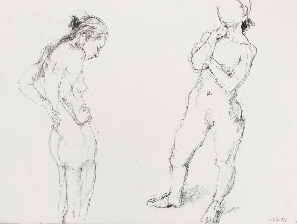 Two Standing Nudes Facing Each Other
