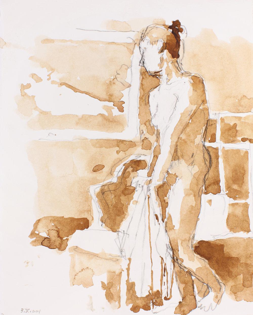 Standing Nude in Studio