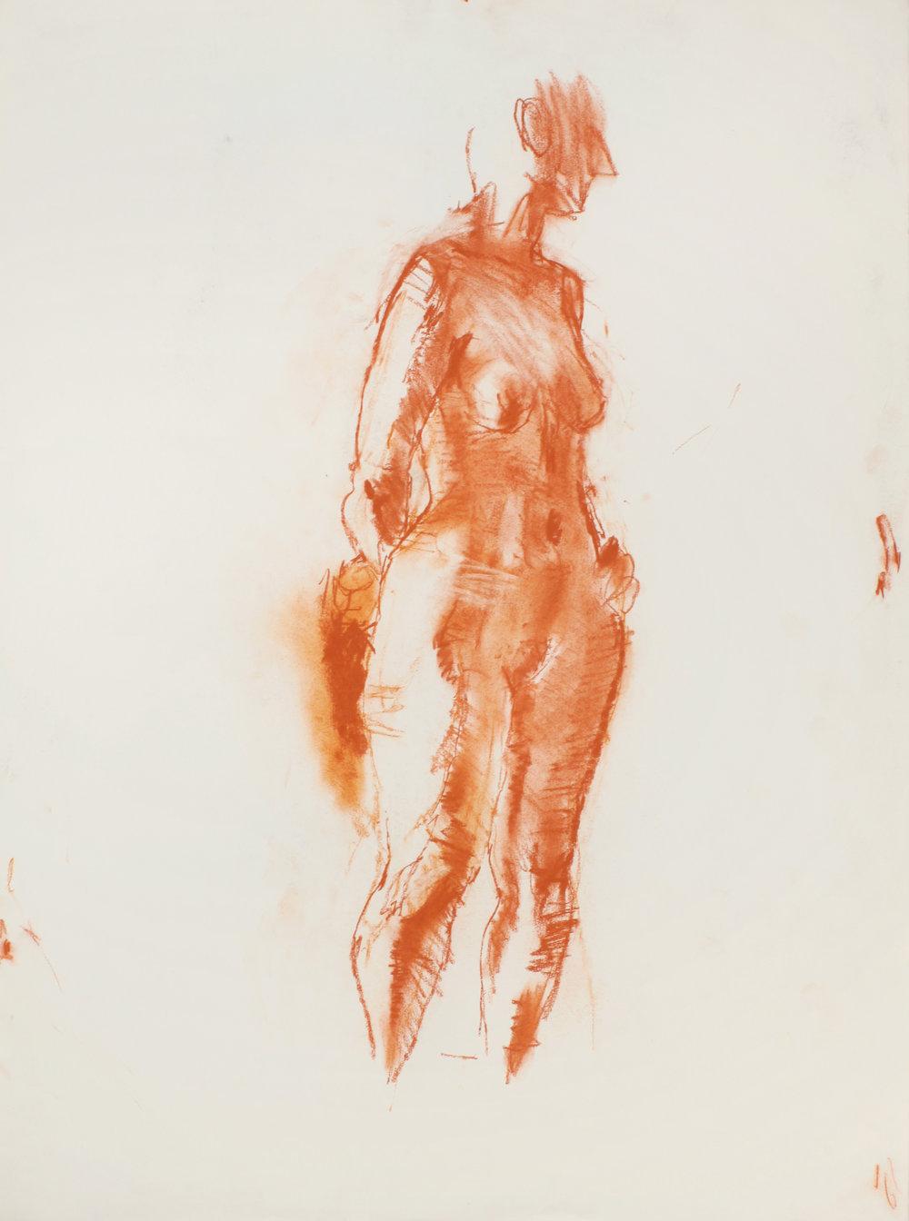 Standing Elongated Nude