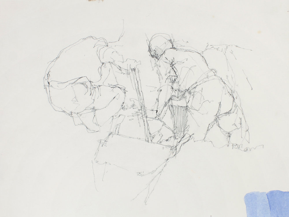 Drawing of Diggers after the Painting