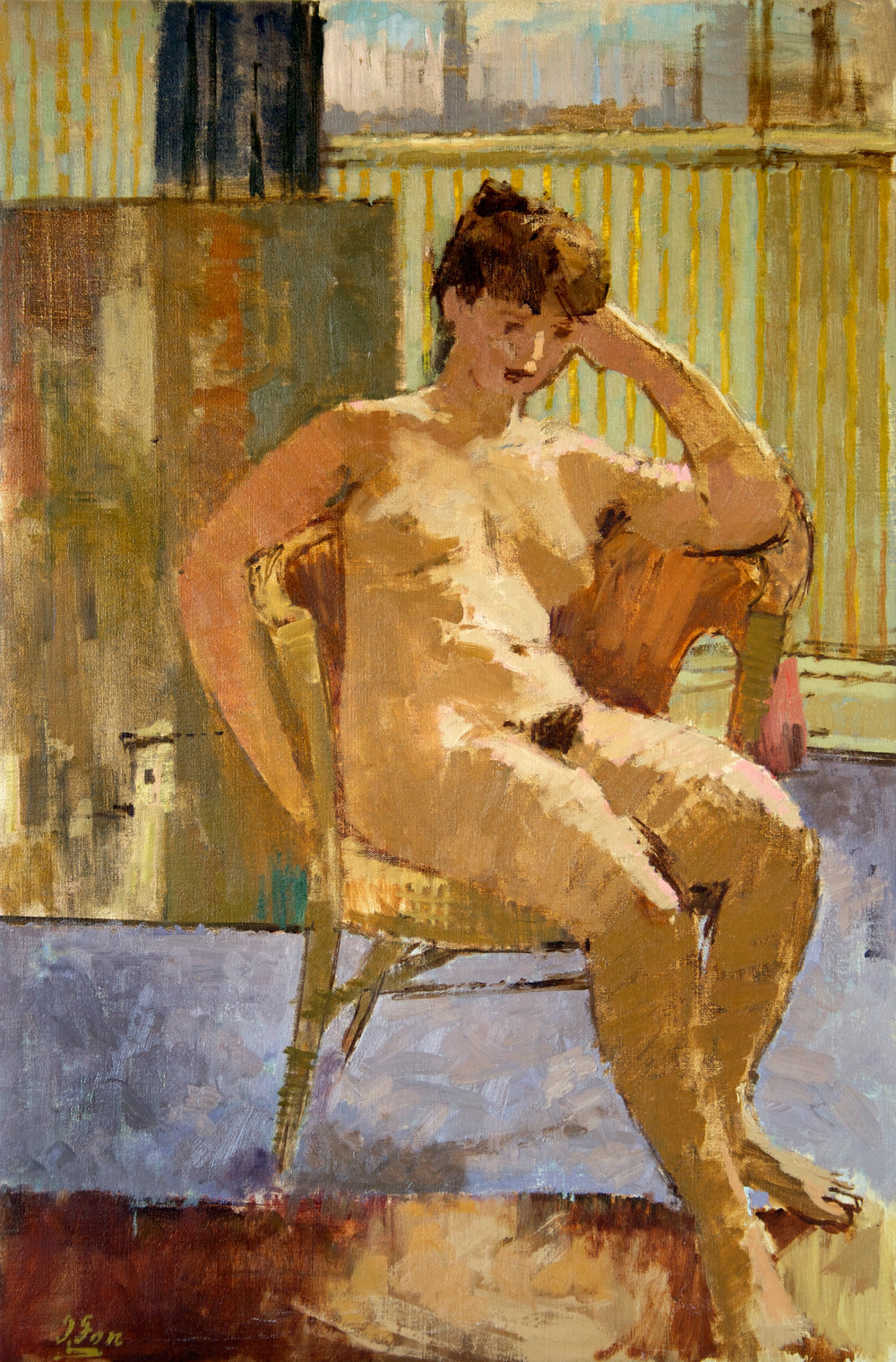 Seated Nude with Painting