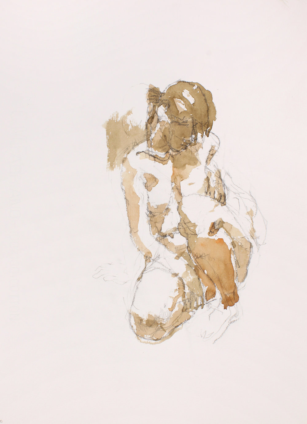 Kneeling Nude with Head Downwards