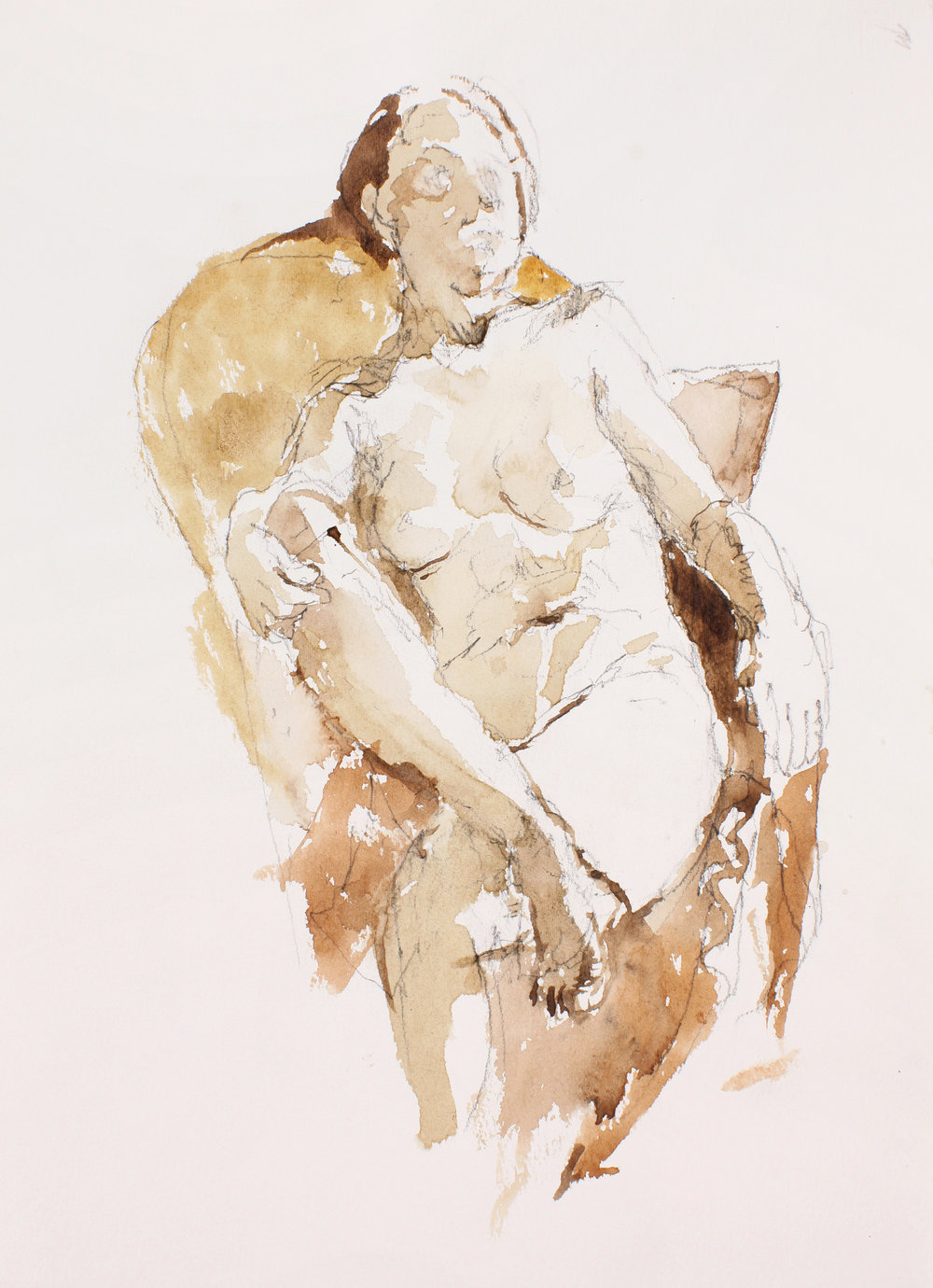Seated Nude with Book