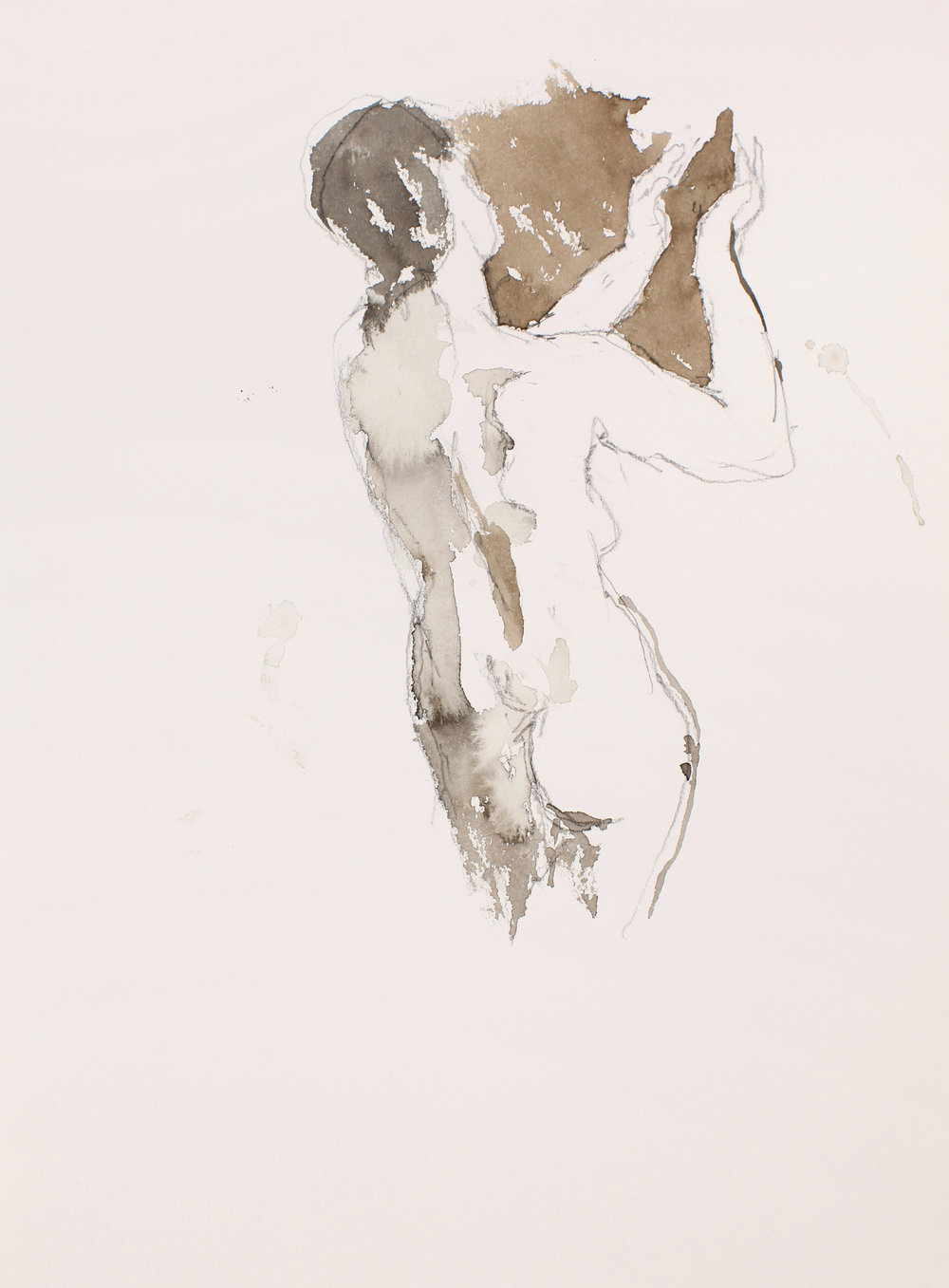 Female Nude with Raised Arms Study For Orpheous