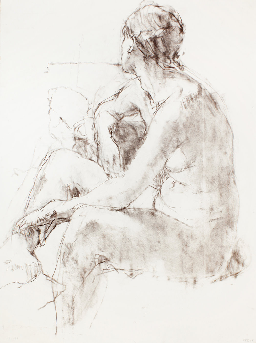 Seated Nude Wearing a Scarf