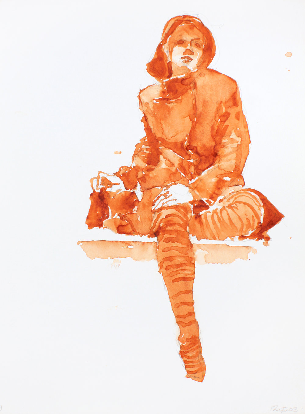 Figure with Coat and Tights