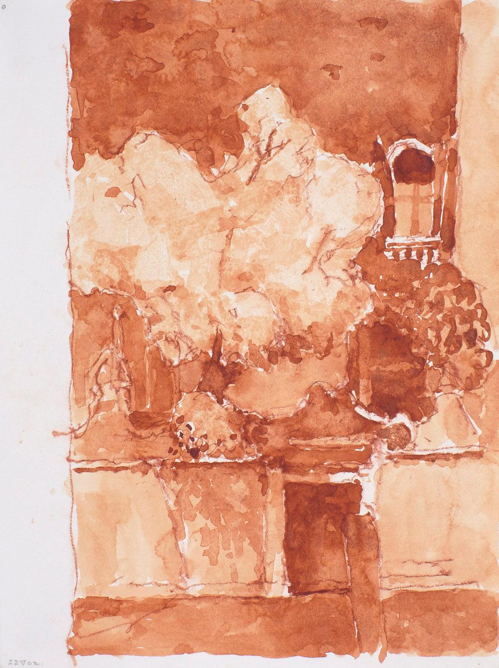 2002_Santa_Ternita_Burnt_Sienna_Santa_Ternita_watercolour_and_red_conte_on_paper_15x11in_38x28cm_WPF335.jpg