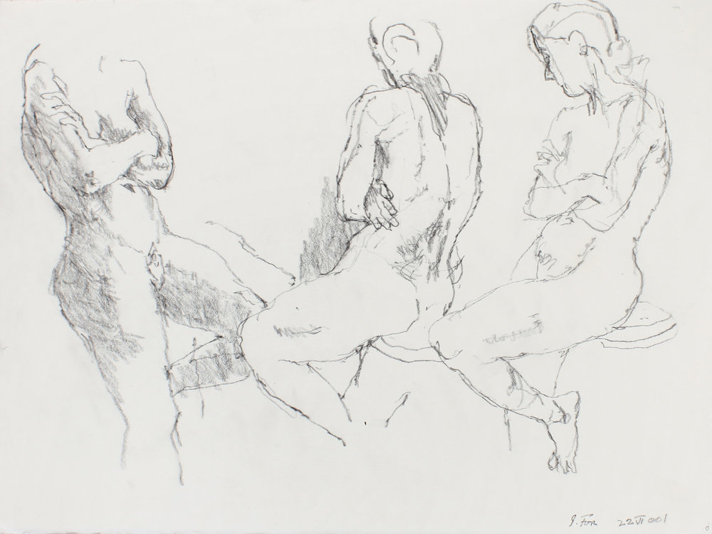 Three Seated Nudes with Crossed Arms
