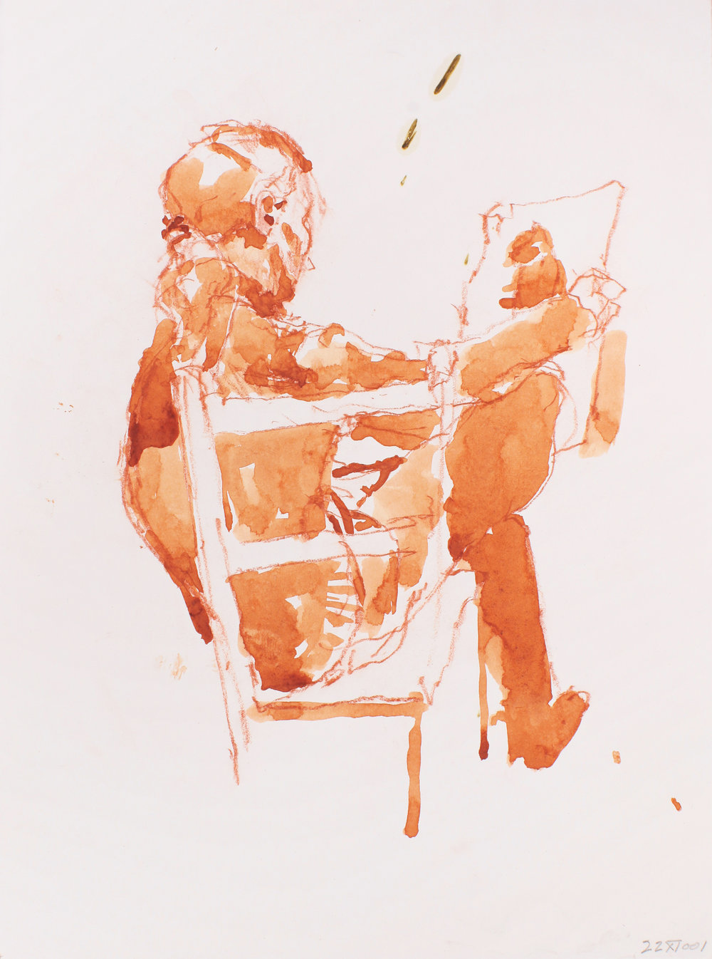 2001_Seated_Woman_Holding_Drawing_red_conte_and_watercolour_on_paper_15x11in_38x28cm_WPF135.jpg